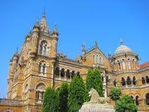 Estação de caminhos-de-ferro do término de Victoria em Mumbai imagem de stock