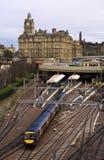 Estação de caminhos-de-ferro do trilho de Edimburgo Fotos de Stock