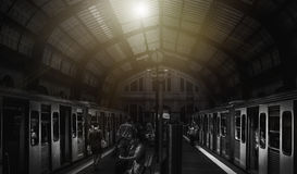 Estação de caminhos-de-ferro em Atenas Foto de Stock Royalty Free