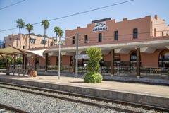 Estação de caminhos-de-ferro em C4marraquexe, Marrocos Fotografia de Stock