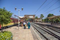 Estação de caminhos-de-ferro em C4marraquexe, Marrocos Fotos de Stock