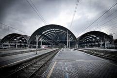 Estação de caminhos-de-ferro em Milão Foto de Stock