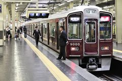 Estação de caminhos-de-ferro em Osaka Imagens de Stock Royalty Free