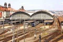 Estação de caminhos-de-ferro em Praga Fotografia de Stock