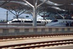 Estação de caminhos-de-ferro moderno em Changsha, China foto de stock