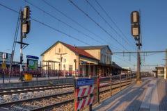 Estação de caminhos-de-ferro Nijkerk fotografia de stock royalty free