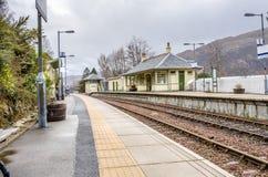Estação de caminhos-de-ferro rural Imagens de Stock
