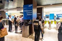 Estação de caminhos-de-ferro subterrâneo da central de Melbourne em Austrália Fotos de Stock