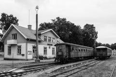 Estação de caminhos-de-ferro. Vadstena. Suécia Fotografia de Stock