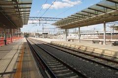 Estação de caminhos-de-ferro vazio foto de stock royalty free