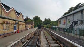 Estação de caminhos-de-ferro vazio Fotografia de Stock Royalty Free