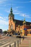 Estação de caminhos-de-ferro velho em Gdansk (Danzig) Foto de Stock Royalty Free