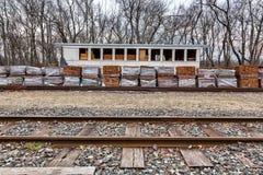 Estação de caminhos-de-ferro velho, histórico Imagens de Stock