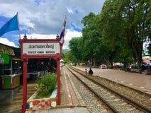 Estação de caminhos-de-ferro da noiva de Kwai do rio imagens de stock