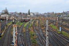 Estação de caminhos-de-ferro do abandono em Czestochowa, Polônia imagens de stock royalty free