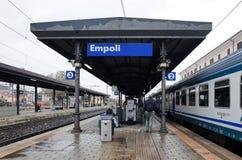 Estação de caminhos de ferro de Empoli, ITÁLIA fotografia de stock royalty free