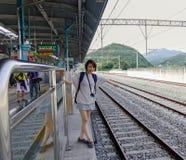 Estação de caminhos de ferro de Gapyeong em Coreia do Sul fotos de stock royalty free