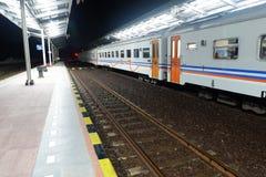 Estação de caminhos de ferro de Indonésia foto de stock royalty free