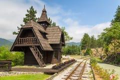 Estação de caminhos de ferro de Jatape no Sargan 8 - Sargan oito - Sagarnska Osmica, Sérvia imagem de stock royalty free