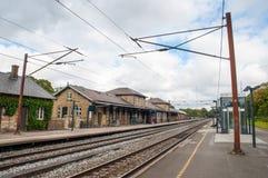 Estação de caminhos-de-ferro na cidade de Soro em Dinamarca Imagens de Stock