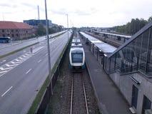 Estação de caminhos-de-ferro no Herning, Dinamarca Imagens de Stock Royalty Free