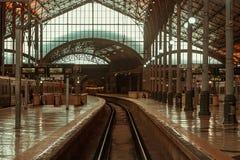 Estação de caminhos-de-ferro de Rossio, Lisboa imagens de stock