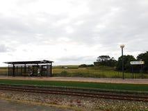 Estação de caminhos-de-ferro rural Fotos de Stock Royalty Free