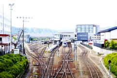 Estação de caminhos-de-ferro de Takayama Fotos de Stock Royalty Free