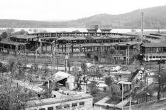 Estação de caminhos-de-ferro velho Fotos de Stock Royalty Free
