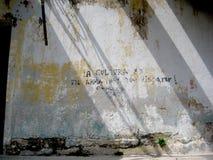 Estação de caminhos de ferro velho Mérida, arte espanhola da rua do ¡ n de Yucatà imagens de stock royalty free