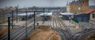 Estação de caminhos de ferro de Zamora, Espanha fotografia de stock