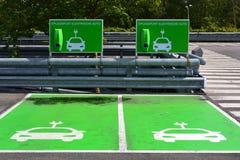 Estação de carregamento para carros bondes. imagens de stock
