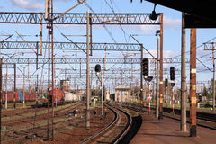 Estação de comboio fotografia de stock royalty free