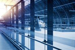 Estação de comboio britânica Fotos de Stock
