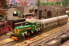 Estação de comboio britânica Fotografia de Stock
