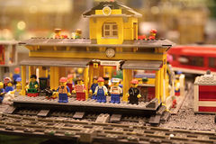 Estação de comboio britânica Imagem de Stock Royalty Free