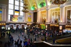 Estação de comboio britânica Fotografia de Stock Royalty Free