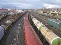 Estação de comboio britânica carga fotografia de stock royalty free