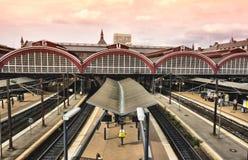 Estação de comboio central de Copenhaga, fotografia de stock royalty free