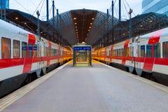 Estação de comboio central em Helsínquia, Finlandia Fotos de Stock