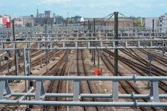 Estação de comboio central em Luxembourg foto de stock