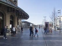 Estação de comboio central em Luxembourg Fotografia de Stock Royalty Free
