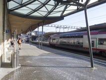 Estação de comboio central em Luxembourg Imagens de Stock