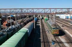 Estação de comboio central em Ulan-Ude fotos de stock