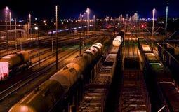 Estação de comboio da carga fotografia de stock royalty free