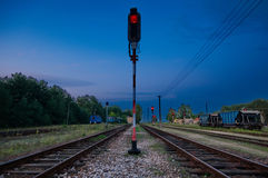 Estação de comboio da carga do vintage Imagens de Stock Royalty Free