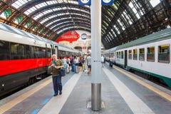 Estação de comboio da central de Milão fotos de stock