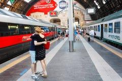 Estação de comboio da central de Milão foto de stock royalty free