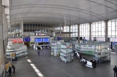 Estação de comboio da central de Varsóvia foto de stock