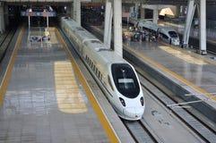 Estação de comboio de Beijing, ââRail de alta velocidade fotos de stock royalty free